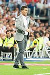 RCD Espanyol coach Joan Francesc Ferrer during La Liga match between Real Madrid and RCD Espanyol at Santiago Bernabeu Stadium in Madrid, Spain. September 22, 2018. (ALTERPHOTOS/Borja B.Hojas)