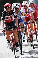 14th March 2020, Paris to Nice cycling tour, final day, stage 7;  DE GENDT Thomas (BEL) of LOTTO SOUDAL and ALAPHILIPPE Julian (FRA) of DECEUNINCK - QUICK - STEP  during stage 7 of the 78th edition of the Paris - Nice cycling race, a stage of 166,5km with start in Nice and finish in Valdeblore La Colmiane on March 14, 2020 in Valdeblore La Colmiane, France