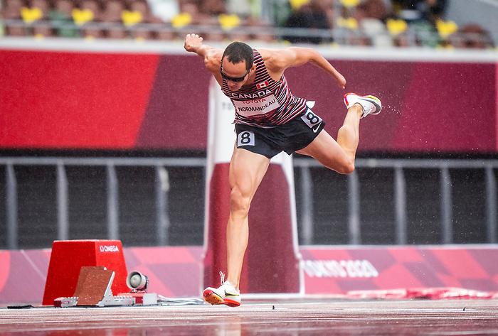 Thomas Normandeau, Tokyo 2020 - Para Athletics // Para-athlétisme.<br /> Thomas Normandeau competes in the men's 800m T47 heats // Thomas Normandeau participe aux éliminatoires du 800 m T47 masculin. 03/09/2021.