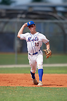Connor Moore (10) during the WWBA World Championship at Lee County Player Development Complex on October 10, 2020 in Fort Myers, Florida.  Connor Moore, a resident of Macclenny, Florida who attends St. John's Country Day School, is committed to Florida State.  (Mike Janes/Four Seam Images)