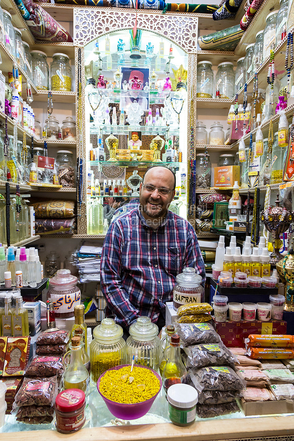 Fes, Morocco.  Vendor of Sweets and Assorted Sundry Items in the Medina.