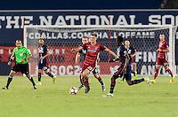 Frisco, TX. - September 13, 2016: FC Dallas takes a 2-1 lead over the New England Revolution during the 2016 U.S. Open Cup Final at Toyota Stadium.