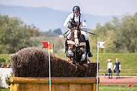 SWE-Christoffer Forsberg rides Hippo's Sapporo during the Cross Country. 2021 SUI-FEI European Eventing Championships - Avenches. Switzerland. Saturday 25 September 2021. Copyright Photo: Libby Law Photography