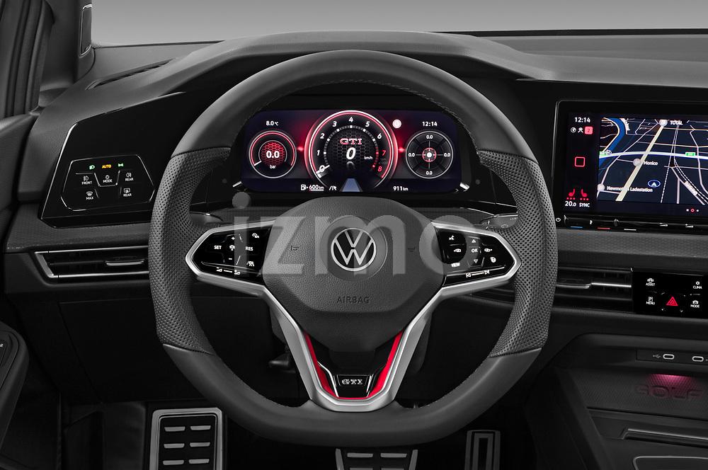 Car pictures of steering wheel view of a 2021 Volkswagen Golf GTI 5 Door Hatchback Steering Wheel