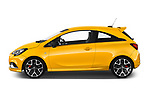 Car Driver side profile view of a 2019 Opel Corsa GSI 3 Door Hatchback Side View
