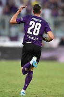 Dusan Vlahovic of Fiorentina celebrates after scoring goal of 1-1 <br /> Firenze 19/08/2019 Stadio Artemio Franchi <br /> Football Italy Cup 2019/2020 <br /> ACF Fiorentina - Monza  <br /> Foto Andrea Staccioli / Insidefoto