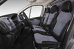 Front Seat View of 2015 Opel Vivaro Edition 4 Door Cargo Van 2WD Stock Photo