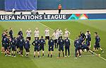 Swedish national team during trainings session at Maksimir Stadium before UEFA Nations League 2020-21 match with Croatia in Zagreb, Croatia on October 10, 2020. <br /> <br /> Mannschaftskrei Schweden mit Ludwig Augustinsson (Werder Bremen #05)<br /> <br /> Foto © nordphoto / Marko Prpic/PIXSELL