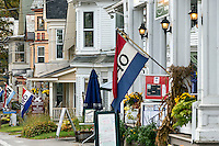 Quaint shops New England village, Chester, Vermont, USA