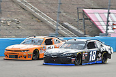 #18: Riley Herbst, Joe Gibbs Racing, Toyota Supra iK9, #52: David Starr, Means Motorsports, Chevrolet Camaro Whataburger