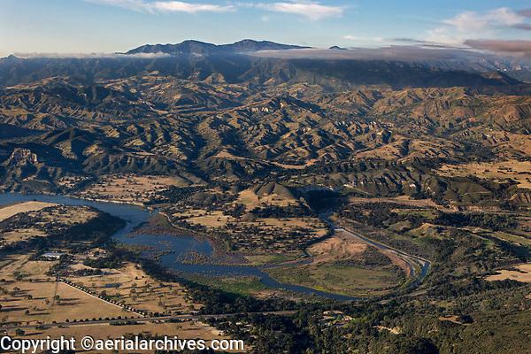 aerial photograph of Cachuma Lake Recreation Area, Santa Barbara County, California