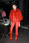 """Susanne Bartsch poses in an outfit from the Adrienne Landau Fall Winter """"Landauland"""" collection fashion presentation co-produced by Susanne Bartsch and Saula Villela, at 111 West 19th Street, on February 14, 2017; during New York Fashion Week: Women's Fall Winter 2017."""