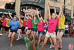 TORRINGTON, CT, 28 JULY 2011-072811JS01-- Dancers from  the Nutmeg Conservancy for the Arts were involved in a Flash Mob during the Main Street Marketplace in downtown Torrington on Thursday. <br /> Jim Shannon/Republican-American