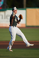 Charleston Boiled Peanuts third baseman Curtis Mead (16) makes a throw to first base against the Augusta GreenJackets at Joseph P. Riley, Jr. Park on June 26, 2021 in Charleston, South Carolina. (Brian Westerholt/Four Seam Images)