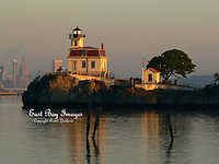 An early morning capture of the Pomham Rocks Lighthouse.