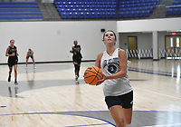 Greenwood's Anna Trusty (3) drives the ball, Thursday, June 10, 2021 during a basketball game at Rogers High School in Rogers. Check out nwaonline.com/210611Daily/ for today's photo gallery. <br /> (NWA Democrat-Gazette/Charlie Kaijo)