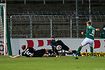 13.01.2021, xtgx, Fussball 3. Liga, VfB Luebeck ß- SV Waldhof Mannheim emspor, v.l. Marcel Seegert (Mannheim, 5) und Marcel Hofrath (Mannheim, 31) werfen sich in den Schuss von Yannick Deichmann (Luebeck, 10) <br /> <br /> (DFL/DFB REGULATIONS PROHIBIT ANY USE OF PHOTOGRAPHS as IMAGE SEQUENCES and/or QUASI-VIDEO)<br /> <br /> Foto © PIX-Sportfotos *** Foto ist honorarpflichtig! *** Auf Anfrage in hoeherer Qualitaet/Aufloesung. Belegexemplar erbeten. Veroeffentlichung ausschliesslich fuer journalistisch-publizistische Zwecke. For editorial use only.