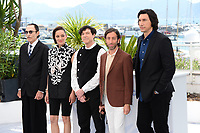 CANNES, FRANCE. July 6, 2021: Musician Ron Mael, actress Marion Cotillard, musician Russell Mael, actors Simon Helberg & Adam Driver at the photocall for Annette at the 74th Festival de Cannes.<br /> Picture: Paul Smith / Featureflash