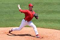 Clearwater Threshers pitcher Steven Inch (19) during a game against the Tampa Yankees on April 9, 2014 at Bright House Field in Clearwater, Florida.  Tampa defeated Clearwater 5-3.  (Mike Janes/Four Seam Images)