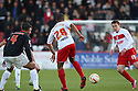 Joseph N'Guessan of Stevenage lays off the ball. Stevenage v MK Dons - npower League 1 -  Lamex Stadium, Stevenage - 27th April, 2013. © Kevin Coleman 2013. ..