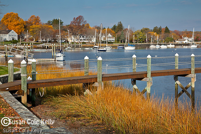 Autumn color on the Warren River, Warren, RI, USA