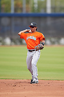 Miami Marlins Rodrigo Ayarza (86) during a Minor League Spring Training game against the Washington Nationals on March 28, 2018 at FITTEAM Ballpark of the Palm Beaches in West Palm Beach, Florida.  (Mike Janes/Four Seam Images)