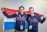 The Hague, The Netherlands, Februari 6, 2020,    Sportcampus, FedCup  Netherlands -  Balarus,  Guus and Lars<br /> Photo: Tennisimages/Henk Koster