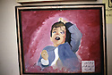 Iraq 1992<br /> In Halabja, painting of victim of chemical weapons<br /> Irak 1992<br /> Halabja, peinture d'une victime des bombardements chimiques