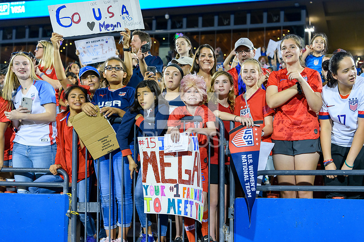FRISCO, TX - MARCH 11: Fans at the USWNT vs Japan match during a game between Japan and USWNT at Toyota Stadium on March 11, 2020 in Frisco, Texas.
