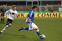 Thomas Goetzl (Hansa Rostock, FIN)<br /> Deutschland vs. Finnland, U19-Junioren<br /> *** Local Caption *** Foto ist honorarpflichtig! zzgl. gesetzl. MwSt. Auf Anfrage in hoeherer Qualitaet/Aufloesung. Belegexemplar an: Marc Schueler, Am Ziegelfalltor 4, 64625 Bensheim, Tel. +49 (0) 151 11 65 49 88, www.gameday-mediaservices.de. Email: marc.schueler@gameday-mediaservices.de, Bankverbindung: Volksbank Bergstrasse, Kto.: 151297, BLZ: 50960101