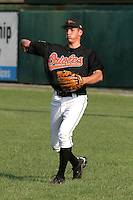 August 19, 2005:  Pitcher Andy Schindling of the Bluefield Orioles during a game at Bowen Field in Bluefield, WV.  Bluefield is the Appalachian League Class-A affiliate of the Baltimore Orioles.  Photo by:  Mike Janes/Four Seam Images