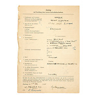 BNPS.co.uk (01202) 558833<br /> Pic: Bonhams/BNPS<br /> <br /> Pictured: Also being sold is a fascinating collection of documents, including Lennon's VISA permits, relating to the band's frequent visits to Hamburg.<br /> <br /> Kind-hearted letters penned by the Beatles to the German fiancee of tragic original bassist Stuart Sutcliffe have come to light.<br /> <br /> Astrid Kirchherr grew close to the band after becoming romantically involved with Sutcliffe during their 1960 Hamburg residency.<br /> <br /> Sutcliffe, a talented painter, left the Beatles the following year to enrol at the Hamburg College of Art, but he died of suspected brain haemorrhage in April 1962.<br /> <br /> The Fab Four were shocked by his sudden death and stayed in touch with Astrid, a photographer, in the years that followed.
