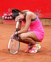 BOGOTA -COLOMBIA - 13-04-2014: Jelena Jankovic de Serbia reacciona al perder un durante partido por la final de la Copa Open Claro Colsanitas 2014, durante partido en el Club Campestre El rancho de la ciudad de Bogota. / Jelena Jankovic of Serbia reacts to losing a during the final match for the Open Claro Colsanitas Tennis Cup 2014, in the Club Campestre El Rancho in Bogota city Photo: VizzorImage / Nestor Silva / Cont.