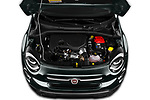 Car Stock 2019 Fiat 500X City-Cross 5 Door SUV Engine  high angle detail view