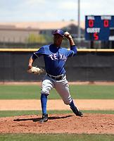 Juan Mejia - Texas Rangers 2019 extended spring training (Bill Mitchell)