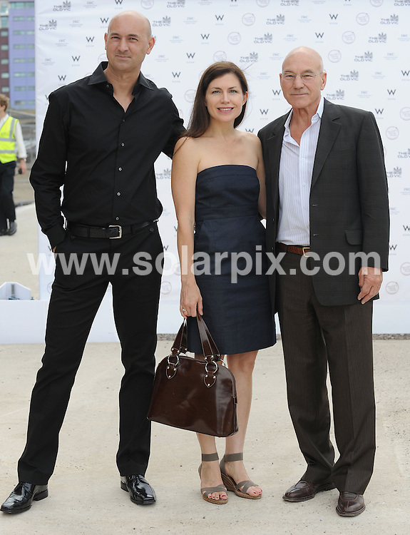 **ALL ROUND PICTURES FROM SOLARPIX.COM**.**WORLDWIDE SYNDICATION RIGHTS**.THE OLD VIC 192 fundraiser Supported by W Doha, held at Battersea Power Station, London, UK. 1 July 2010...This pic: Patrick Stewart and son..JOB REF: 11581 SSD     DATE: 01_07_2010.**MUST CREDIT SOLARPIX.COM OR DOUBLE FEE WILL BE CHARGED**.**MUST NOTIFY SOLARPIX OF ONLINE USAGE**.**CALL US ON: +34 952 811 768 or LOW RATE FROM UK 0844 617 7637**