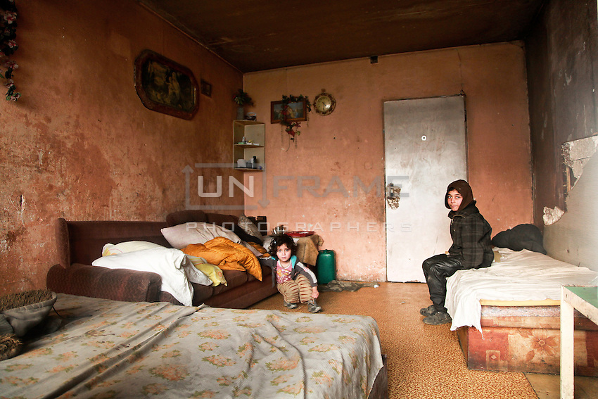 The residence of Lunik IX,one family with 12 children cramped into this one bed apartment.