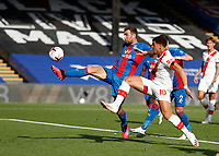 12th September 2020; Selhurst Park, London, England; English Premier League Football, Crystal Palace versus Southampton; James McArthur of Crystal Palace clears the ball out from a Southampton free kick