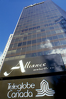 FILE PHOTO  - Alliance (insurance firm) headquarter in Montreal before the fusion with Industrielle<br /> <br /> <br /> Photo : Agence Quebec Presse