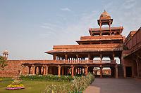 Fatehpur Sikri, Uttar Pradesh, India.  Panch Mahal, the Five-storeyed Palace.