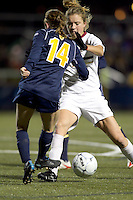 """Boston College forward Kristen Mewis (19) dribbles. Boston College defeated West Virginia, 4-0, in NCAA tournament """"Sweet 16"""" match at Newton Soccer Field, Newton, MA."""
