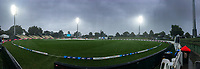 The match is halted due to rain during day five of the international cricket 2nd test match between NZ Black Caps and England at Seddon Park in Hamilton, New Zealand on Tuesday, 3 December 2019. Photo: Dave Lintott / lintottphoto.co.nz