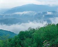 Storm clouds over the Shenandoah Valley viewed from Skyline Drive; Shenandoah National Park, VA