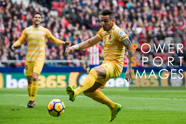 Francisco Aday Benitez of Girona FC in action during the La Liga 2017-18 match between Atletico de Madrid and Girona FC at Wanda Metropolitano on 20 January 2018 in Madrid, Spain. Photo by Diego Gonzalez / Power Sport Images