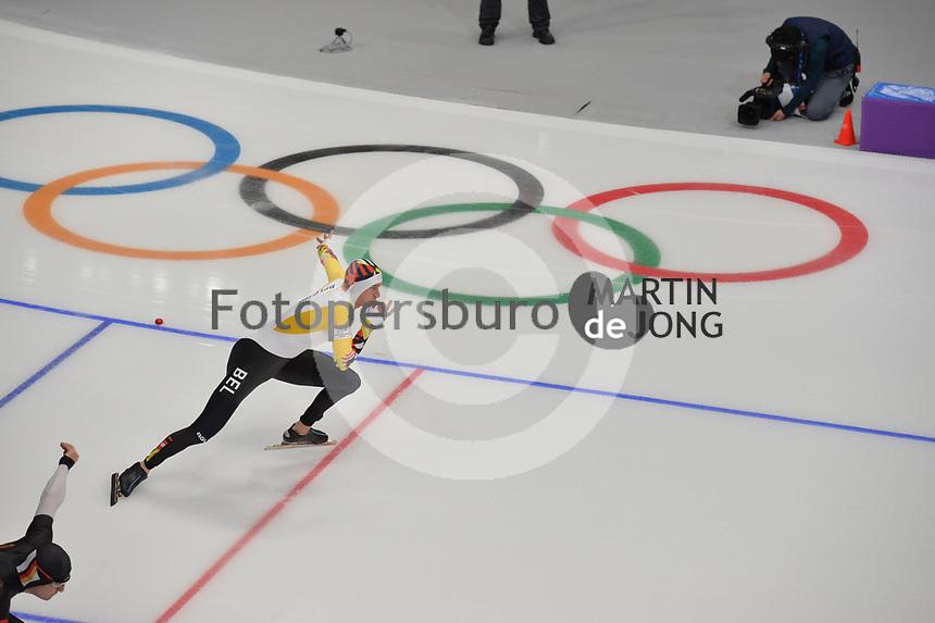 OLYMPIC GAMES: PYEONGCHANG: 19-02-2018, Gangneung Oval, Long Track, 500m Men, Mathias Vosté (BEL), ©photo Martin de Jong