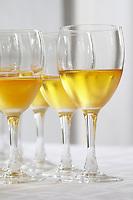 Aperitif served in the entrance hall, a glass golden yellow of Chateau de Cerons  Chateau de Cerons (Cérons) Sauternes Gironde Aquitaine France