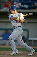 August 30 2009: Dusty Coleman of the Stockton Ports during game against the Rancho Cucamonga Quakes at The Epicenter in Rancho Cucamonga,CA.  Photo by Larry Goren/Four Seam Images