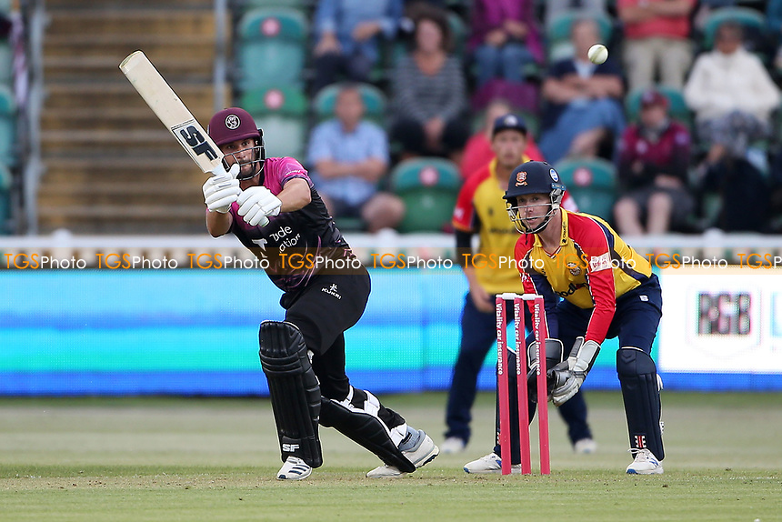 Lewsis Gregory in batting action for Somerset during Somerset vs Essex Eagles, Vitality Blast T20 Cricket at The Cooper Associates County Ground on 9th June 2021