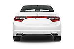 Straight rear view of a 2017 Hyundai Azera Liimited 4 Door Sedan stock images