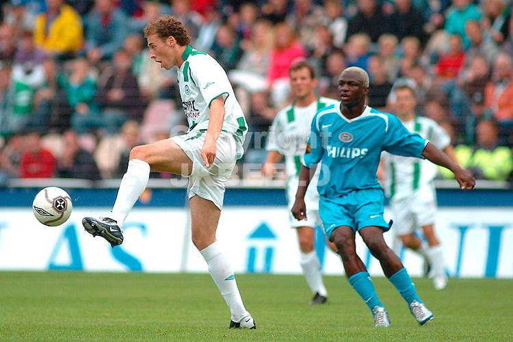 groningen - psv eredivisie seizoen 2005-2006 18-09-2005 luirink ruimt op